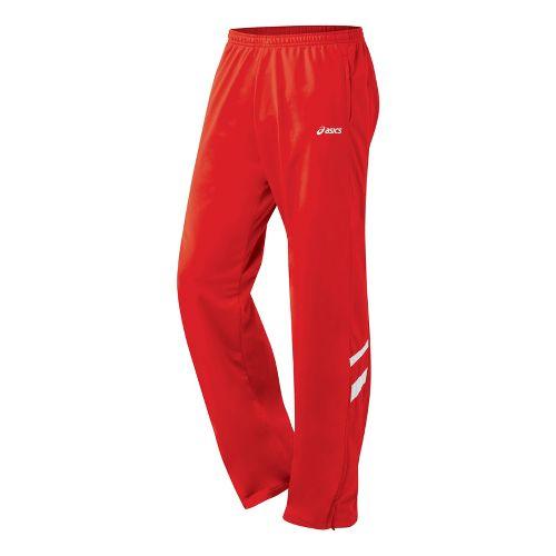 Mens ASICS Cabrillo Pant Full Length - Red/White M
