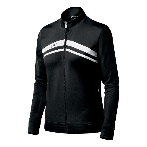 Womens ASICS Cabrillo Running Jackets - Black/White XL
