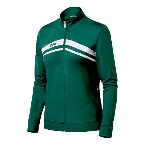Womens ASICS Cabrillo Running Jackets - Forest/White S