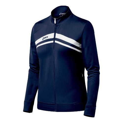 Womens ASICS Cabrillo Running Jackets - Navy/White XXL