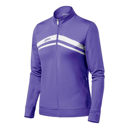 Womens ASICS Cabrillo Running Jackets - Purple/White XL