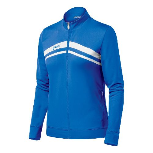 Womens ASICS Cabrillo Running Jackets - Royal/White M