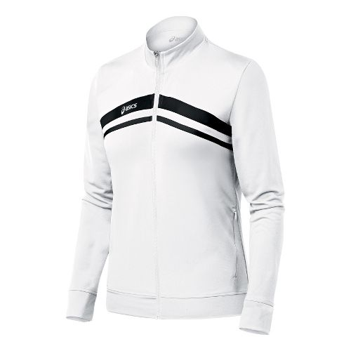 Womens ASICS Cabrillo Running Jackets - White/Black XXL