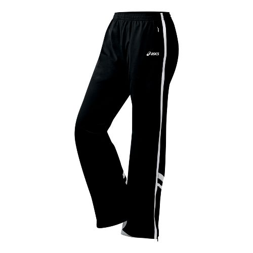Womens ASICS Cabrillo Pant Full Length - Black/White XS