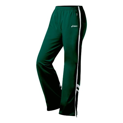 Womens ASICS Cabrillo Pant Full Length - Forest/White XL