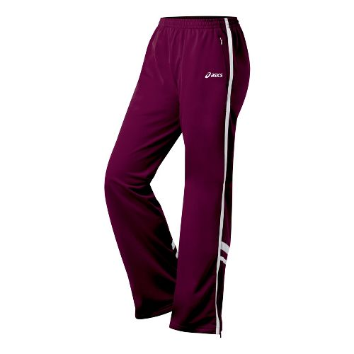 Womens ASICS Cabrillo Pant Full Length - Maroon/White XS