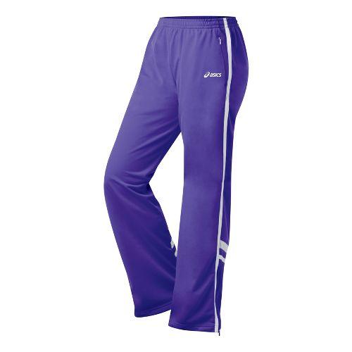Womens ASICS Cabrillo Pant Full Length - Purple/White XS