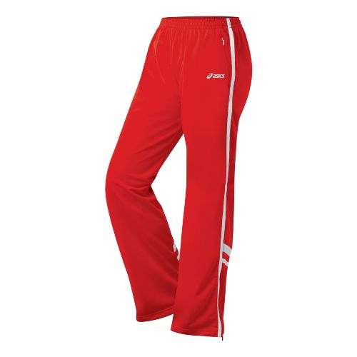 Womens ASICS Cabrillo Pant Full Length - Red/White XS