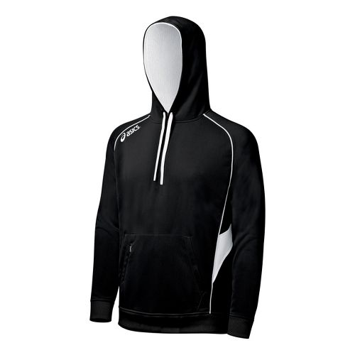 ASICS Team Hoody Long Sleeve No Zip Technical Tops - Black/White XXL