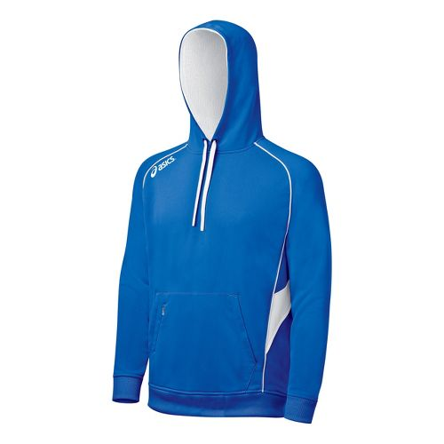 ASICS Team Hoody Long Sleeve No Zip Technical Tops - Royal/White L