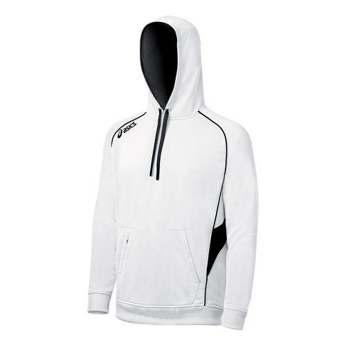 ASICS Team Hoody Long Sleeve No Zip Technical Tops - White/Black XL