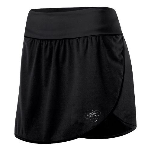 Womens ASICS AYAMi Skort Fitness Skirts - Black/Black M