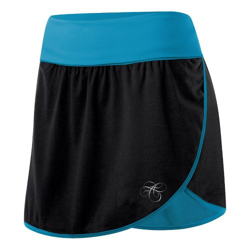 Womens ASICS AYAMi Skort Fitness Skirts - Black/Lapis XS
