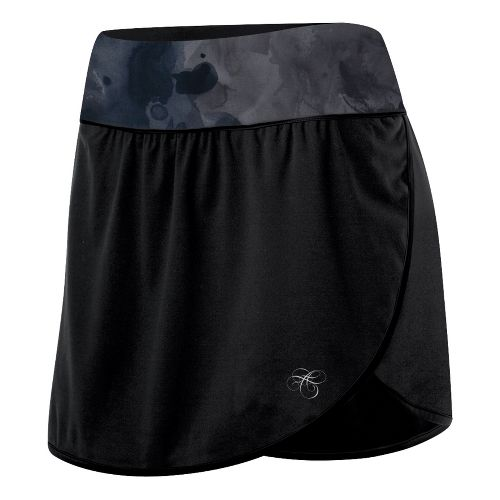 Womens ASICS AYAMi Skort Fitness Skirts - Black Watersplash L