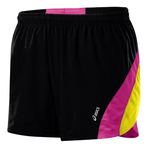Womens ASICS ARD Short Lined Shorts - Black/Neon Pink S