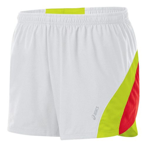 Womens ASICS ARD Short Lined Shorts - White/WOW S