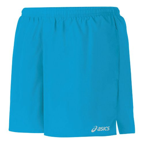 Womens ASICS Core Pocketed Lined Shorts - Atomic Blue M