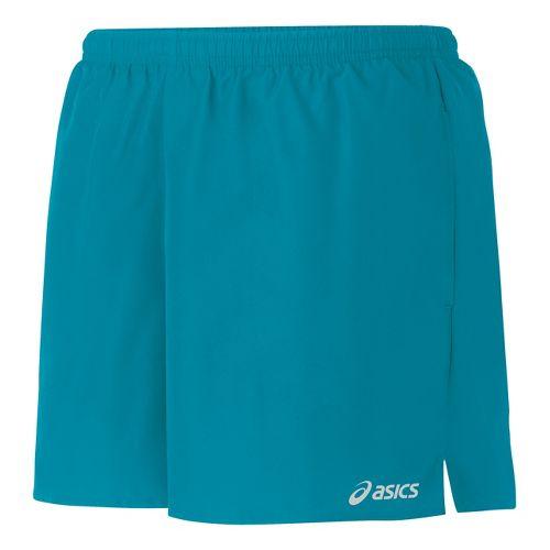 Womens ASICS Core Pocketed Lined Shorts - Bondi Blue XL