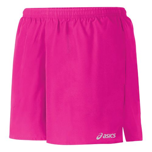 Womens ASICS Core Pocketed Lined Shorts - PinkGlo XL