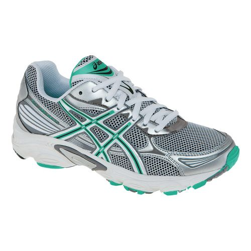 Womens ASICS GEL-Galaxy 5 Running Shoe - White/Titanium 6.5