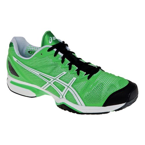 Mens ASICS GEL-Solution Speed Court Shoe - Neon Green/White 10