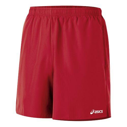 Mens ASICS Core Pocketed Lined Shorts - Brick XL