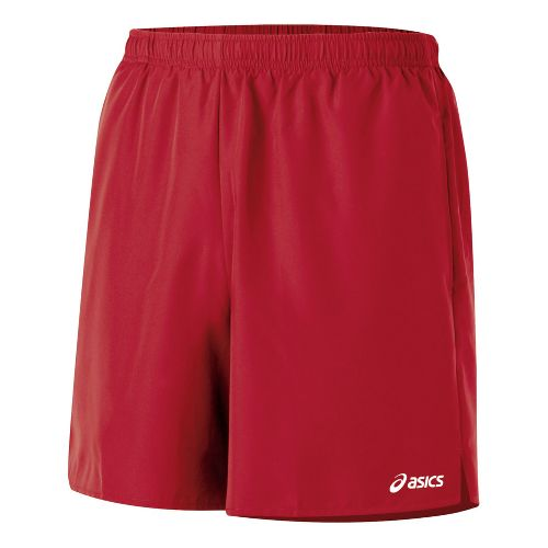 Mens ASICS Core Pocketed Lined Shorts - Brick XXL