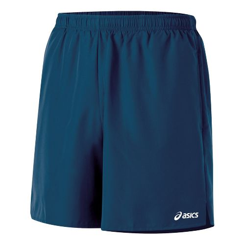 Mens ASICS Core Pocketed Lined Shorts - Midnight L