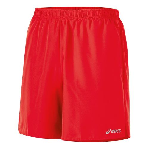 Mens ASICS Core Pocketed Lined Shorts - Red Heat XL