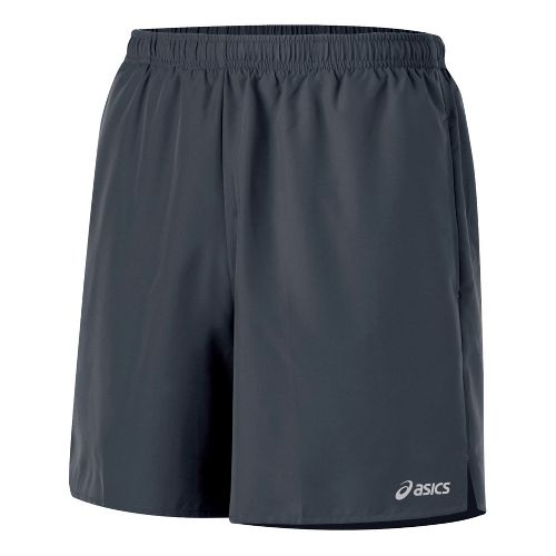 Mens ASICS Core Pocketed Lined Shorts - Steel L