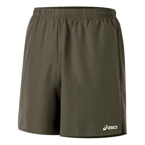 Mens ASICS Core Pocketed Lined Shorts - Tarmac XXL