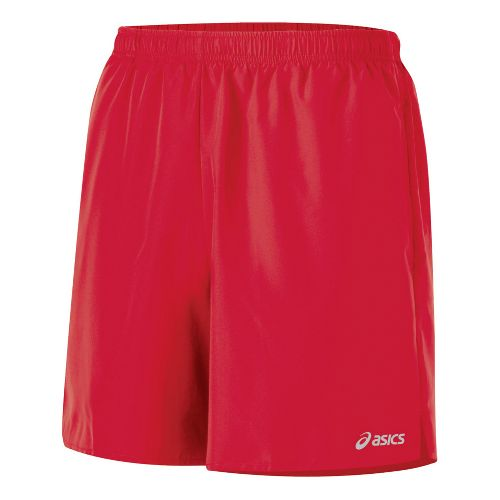 Mens ASICS Core Pocketed Lined Shorts - True Red XXL