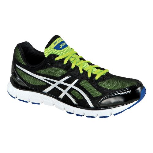 Mens ASICS GEL-Flash Running Shoe - Black/Lightning 8.5