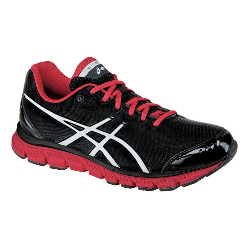 Mens ASICS GEL-Flash Running Shoe - Black/White 14