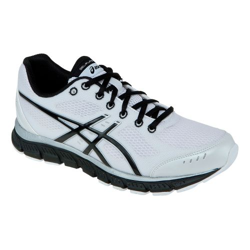 Mens ASICS GEL-Flash Running Shoe - White/Black 7.5