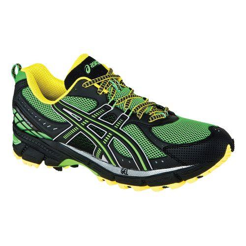 Mens ASICS GEL-Kahana 6 Trail Running Shoe - Electric Green/Onyx 6.5