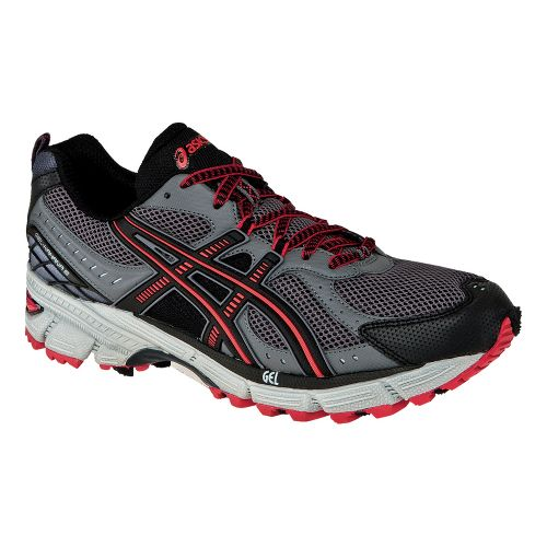 Mens ASICS GEL-Kahana 6 Trail Running Shoe - Titanium/Black 12