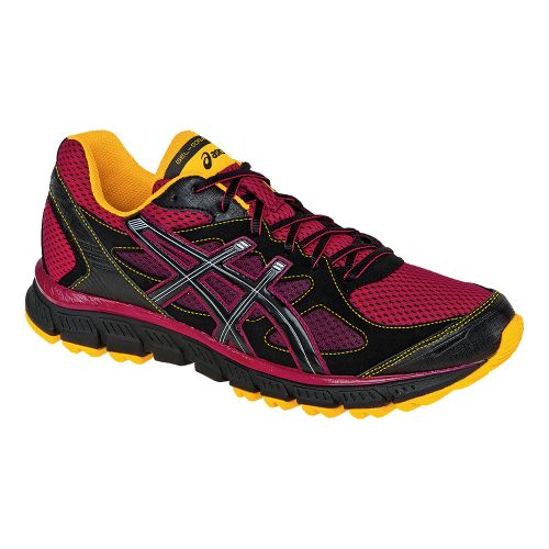Mens ASICS GEL-Scram Trail Running Shoe - Brick/Black 10