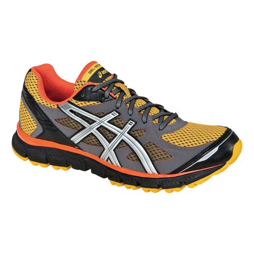Mens ASICS GEL-Scram Trail Running Shoe - Mango/Lightning 12