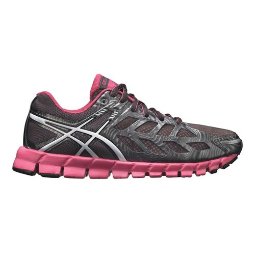 Womens ASICS GEL-Lyte33 Running Shoe - Charcoal/Pink 11.5