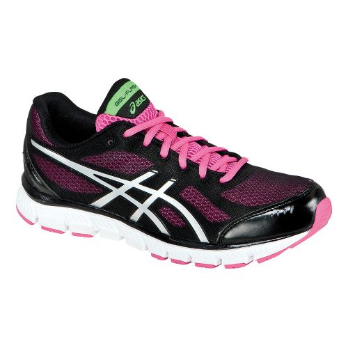 Womens ASICS GEL-Flash Running Shoe - Black/Lightning 8.5