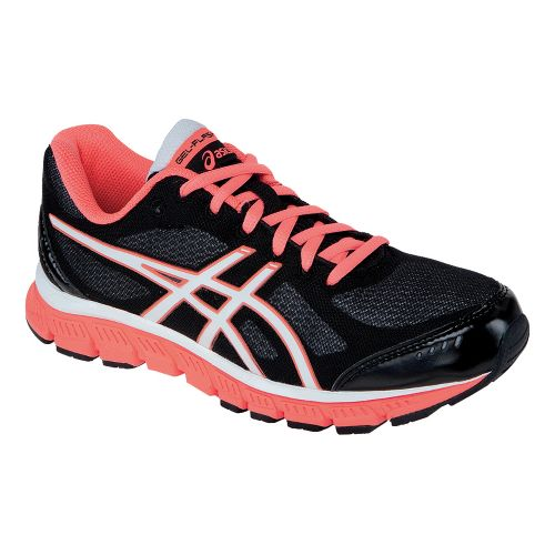 Womens ASICS GEL-Flash Running Shoe - Black/White 8