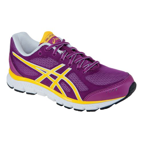 Womens ASICS GEL-Flash Running Shoe - Plum/New Yellow 6.5
