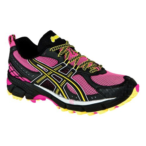 Womens ASICS GEL-Kahana 6 Trail Running Shoe - Hot Pink/Black 11.5