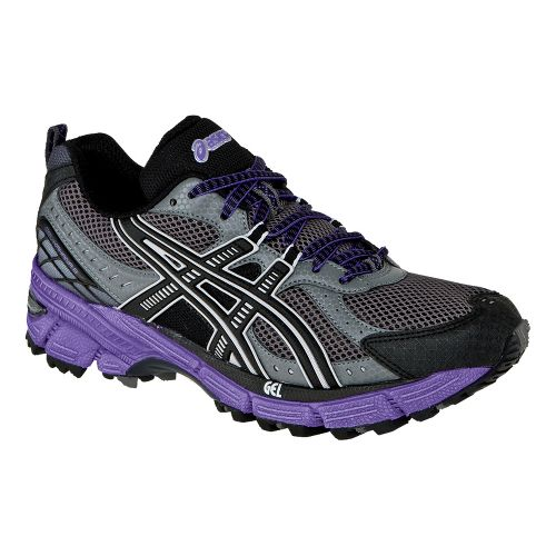 Womens ASICS GEL-Kahana 6 Trail Running Shoe - Titanium/Black 7.5