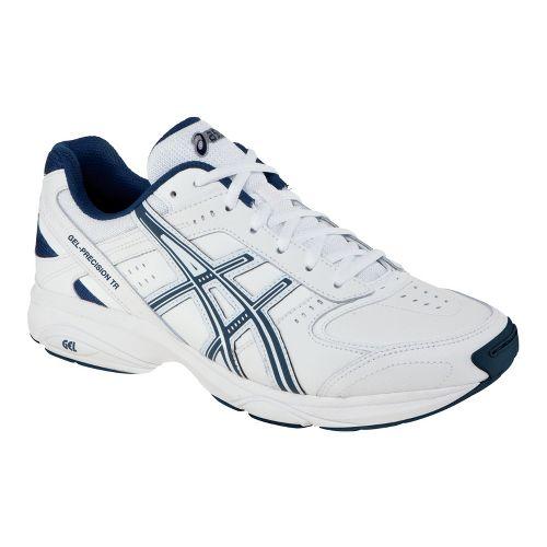 Mens ASICS GEL-Precision TR Cross Training Shoe - White/Navy 7.5