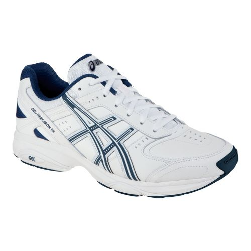 Mens ASICS GEL-Precision TR Cross Training Shoe - White/Navy 8.5