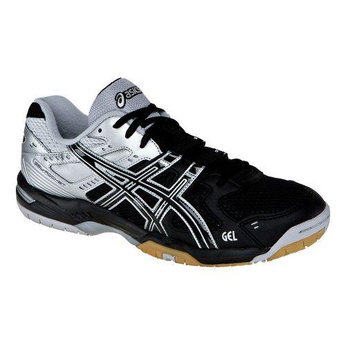 Mens ASICS GEL-Rocket 6 Court Shoe - Black/Silver 11.5