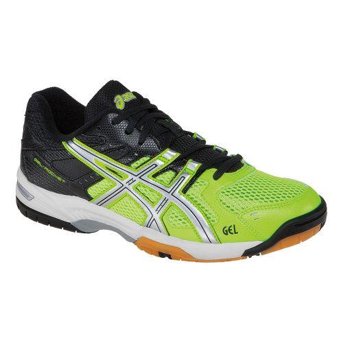 Mens ASICS GEL-Rocket 6 Court Shoe - Flash Yellow/Silver 6.5