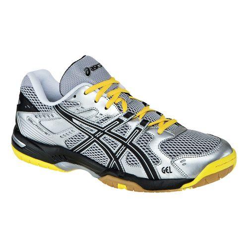 Mens ASICS GEL-Rocket 6 Court Shoe - Silver/Black 12.5
